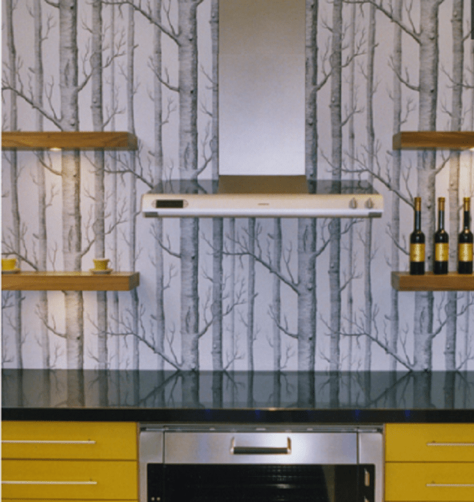 kitchen wallpaper border ideas