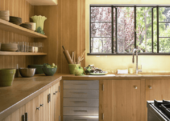 Kitchen With Initial Appeal Yellow
