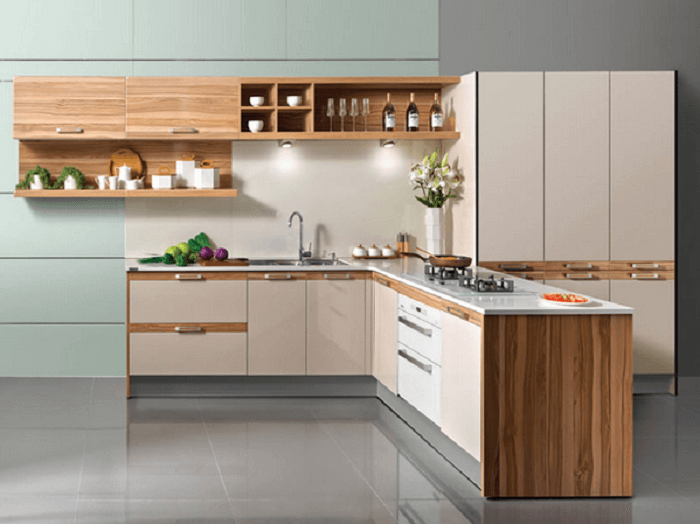 l shaped kitchen cabinets