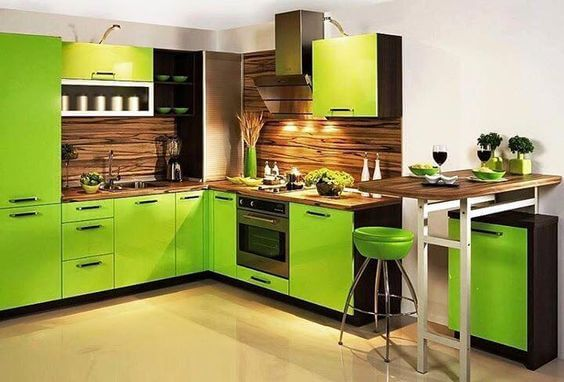 Lively Green Kitchen Design Ideas