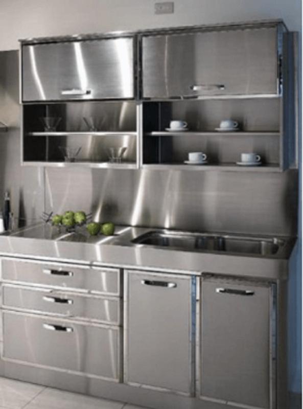 Modern Metal Kitchen Cabinets
