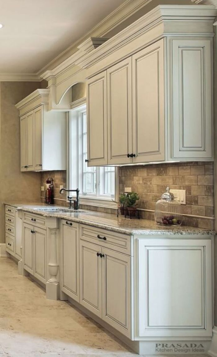 25 Antique White Kitchen Cabinets Ideas That Blow Your ...