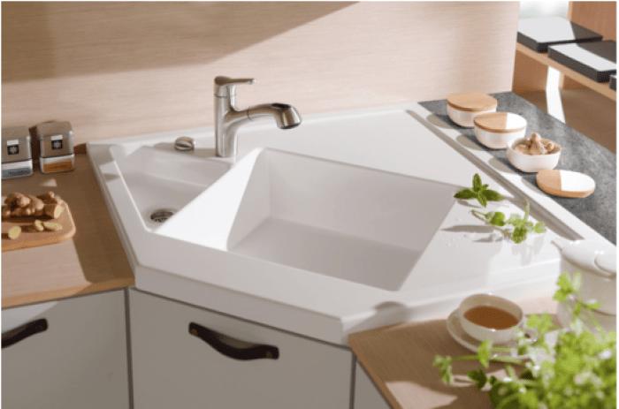 ⫸25 Cool Corner Kitchen Sink Designs [Best Ideas With ...
