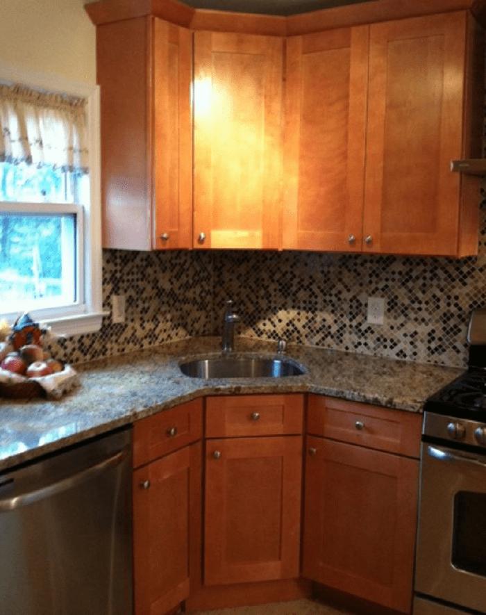 Etonnant Corner Kitchen Sink Cabinet