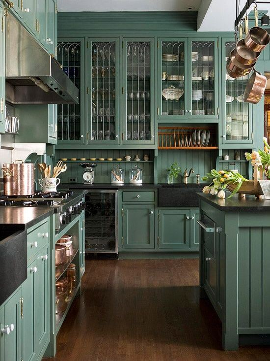 Green Kitchen Design Ideas Part - 43: Green Kitchen