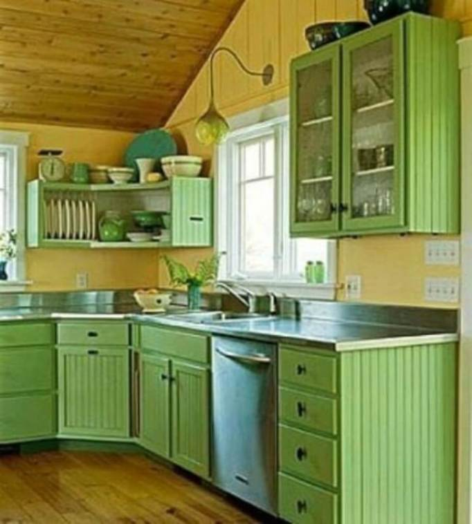 Colour Ideas For Kitchen Cupboards: 22 Kitchen Cupboard Paint Ideas For Your Stylish Kitchen
