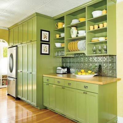 Green Kitchen Cabinet Ideas Part - 36: Green Kitchen Cupboard Ideas