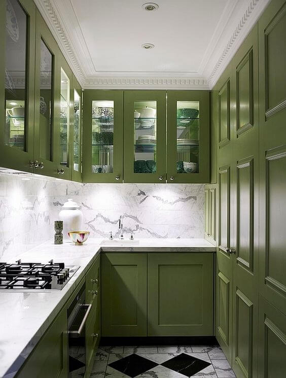 Charmant Olive Green Kitchen Cabinets Ideas