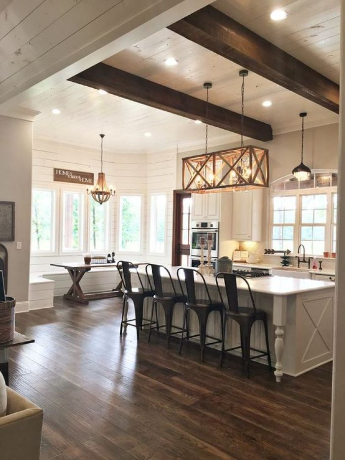 Open Kitchen Designs Farmhouse