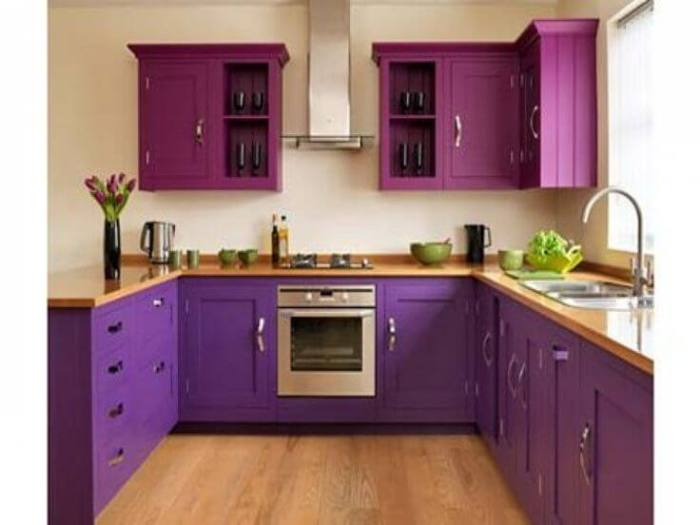 Purple Kitchen Cabinets