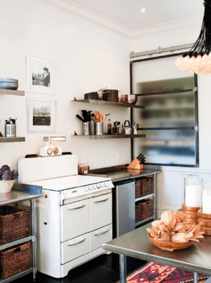 custom metal kitchen cabinets