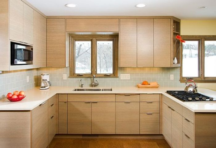 U-Shaped Kitchen Cabinets