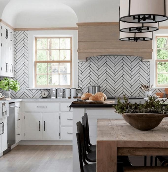 Black And Cream Kitchen Tiles: 40 Best Design Kitchen Splashback Ideas & Backsplash Kitchen