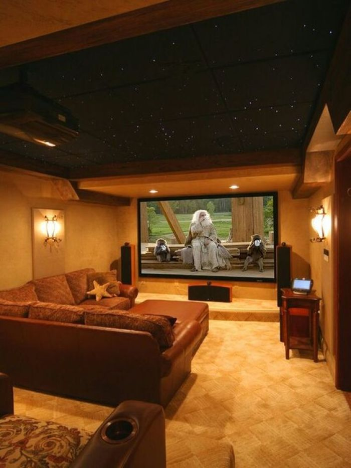 Basement Home Theater Modern
