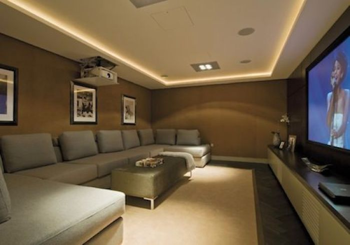Basement Home Theater Projector