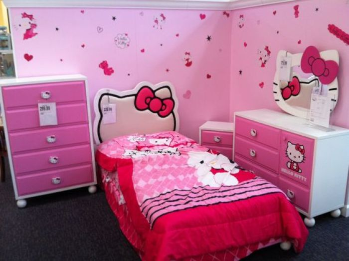 Hello Kitty Night Stand for Bedroom Designs