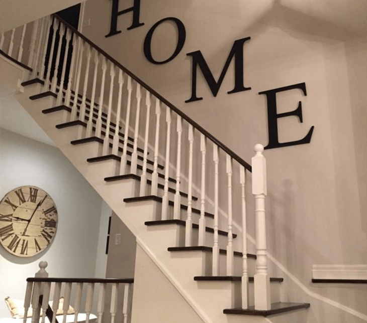 Good Black And White Stairs Painting