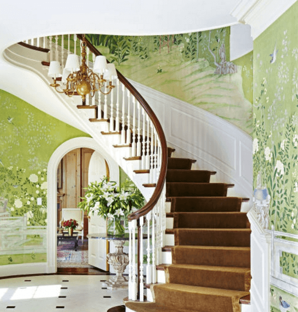 ≫21 Attractive Painted Stairs Ideas Pictures Painting Stairs | Stairs Wall Paint Design | Luxury Staircase Wall | Wallpaper | Wall Colour | Beautiful | Wall Painting