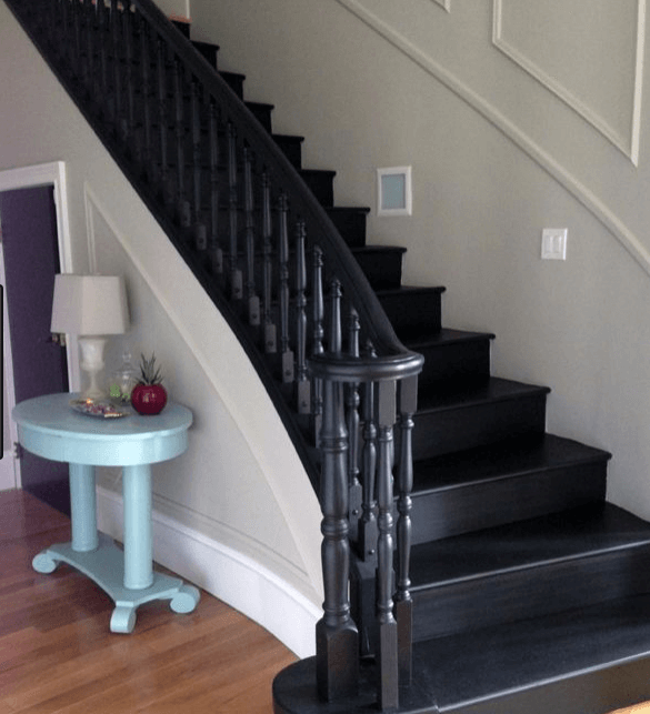 Superior Paint Staircases Black Ideas. Black Stairs Pictures