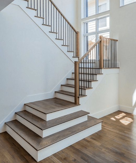 Awesome Staircase Ideas Part - 4: Painted Oak Staircase Ideas