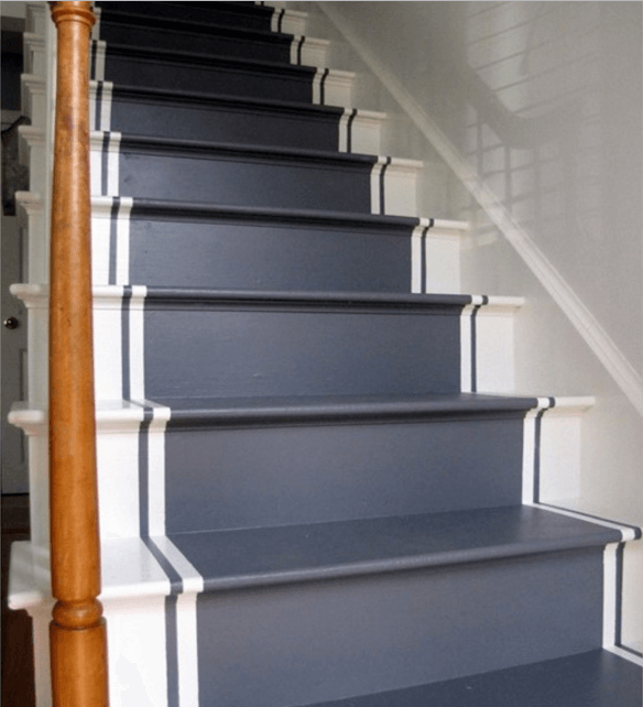 21 attractive painted stairs ideas pictures painting stairs reverb rh reverbsf com grey colour stairs dark grey painted stairs
