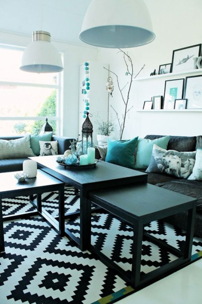 marvellous turquoise living room | 18 Turquoise Room Ideas You Can Apply in Your Home - Reverb
