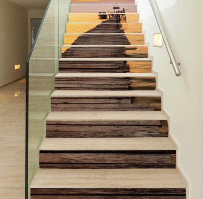 Wooden Staircases: ≫21 Attractive Painted Stairs Ideas Pictures