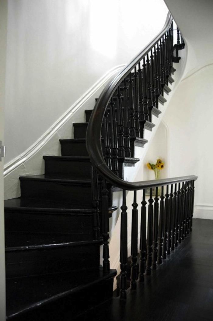 Painted Stairs Part - 36: Black Painted Stairs