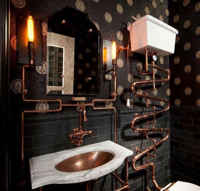 Best Steampunk Bathroom Design