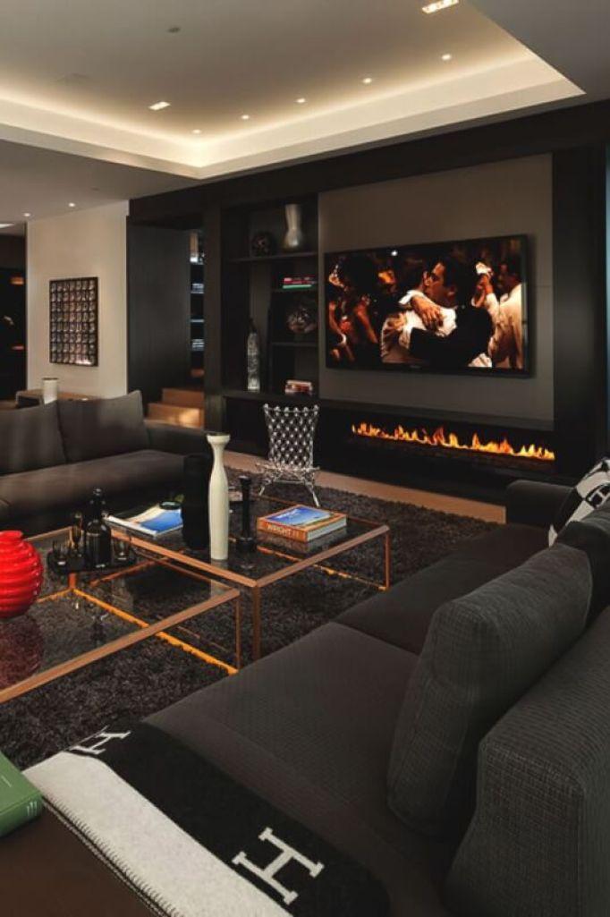 Male Living Room Amusement Center