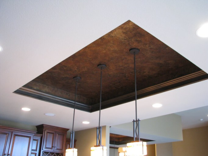Metallic Ceiling Kitchen