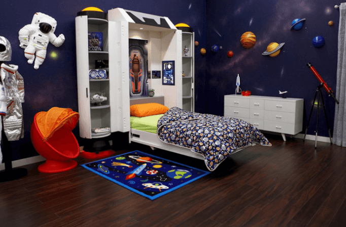 being a space traveller in the space themed bedroom reverb