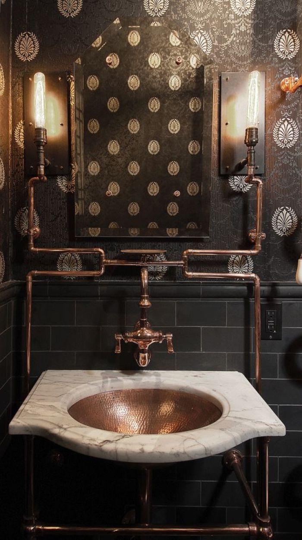 Steampunk Bathroom victorian-bathroom