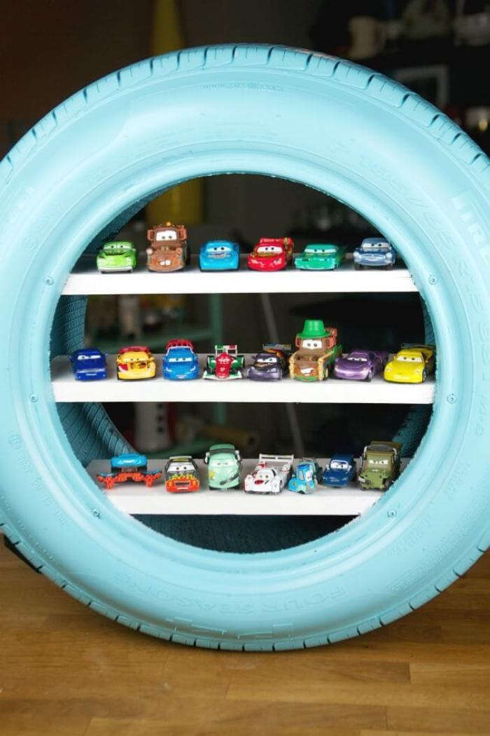 Tire Hotwheels DIY Display Cases