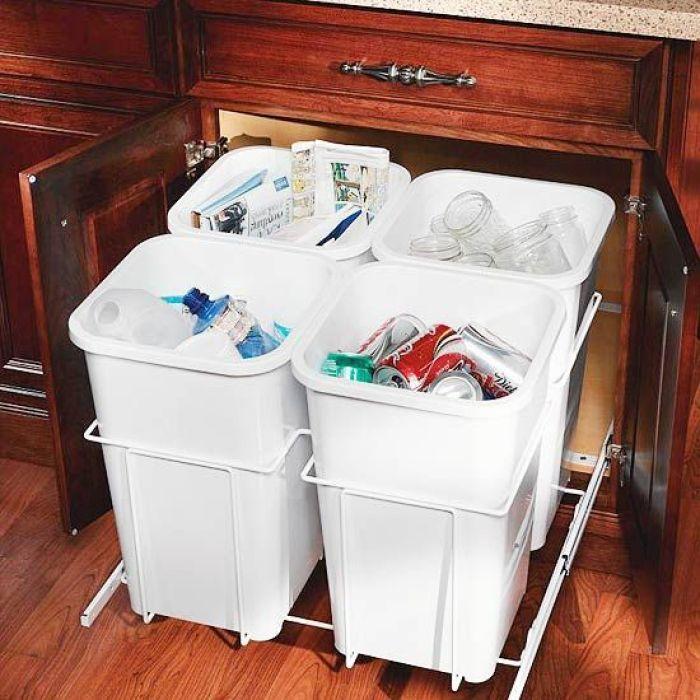 Under Sink Trash Can Slide