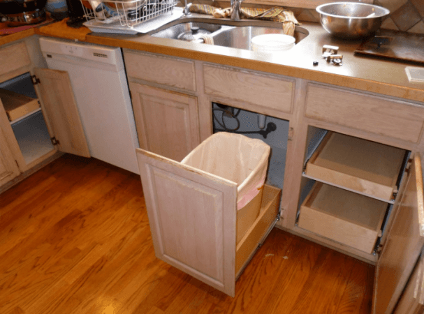 29 Best Ideas About Under Sink Pull Out Trash Can