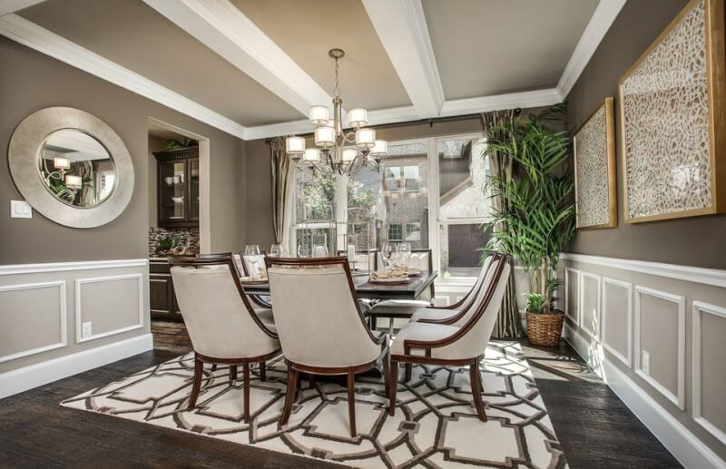 Wainscoting dining room Tall Dining Room Wainscoting Reverbsfcom 16 Wainscoting Style Ideas And How To Install Them new Designs 2019