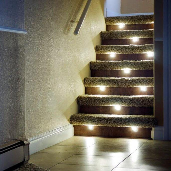Recessed Stair Lighting