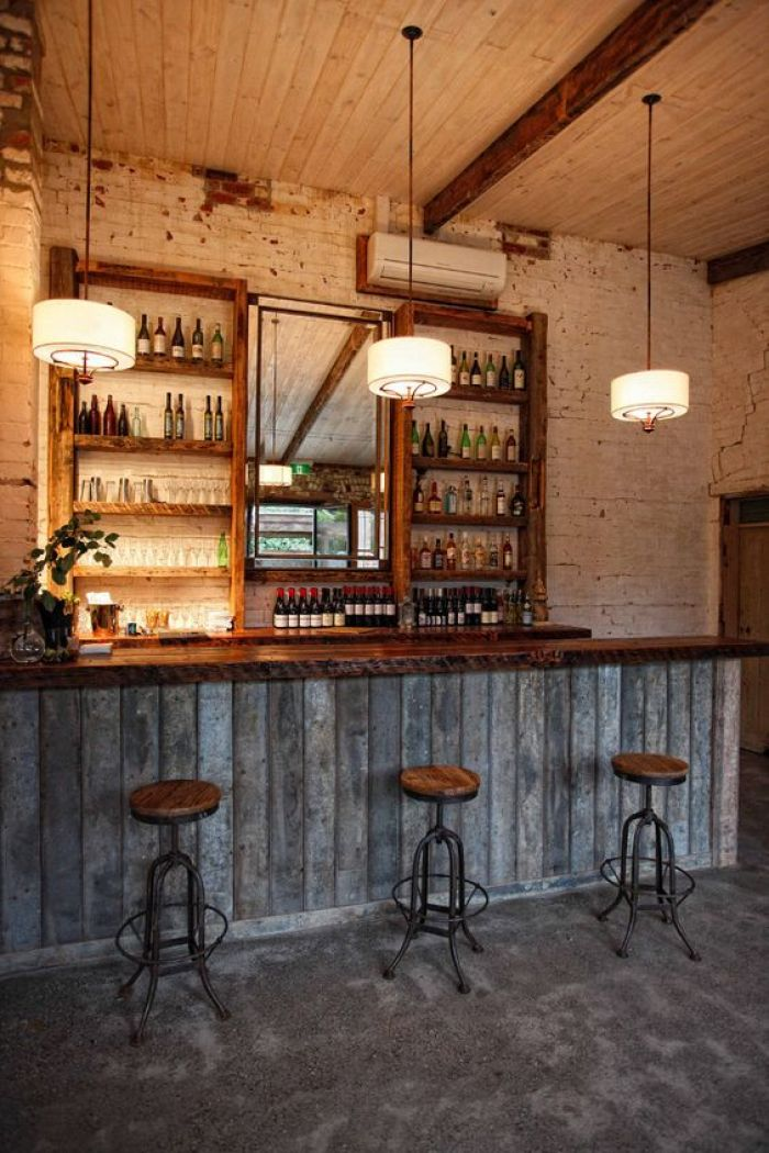 Basement Bar Rustic