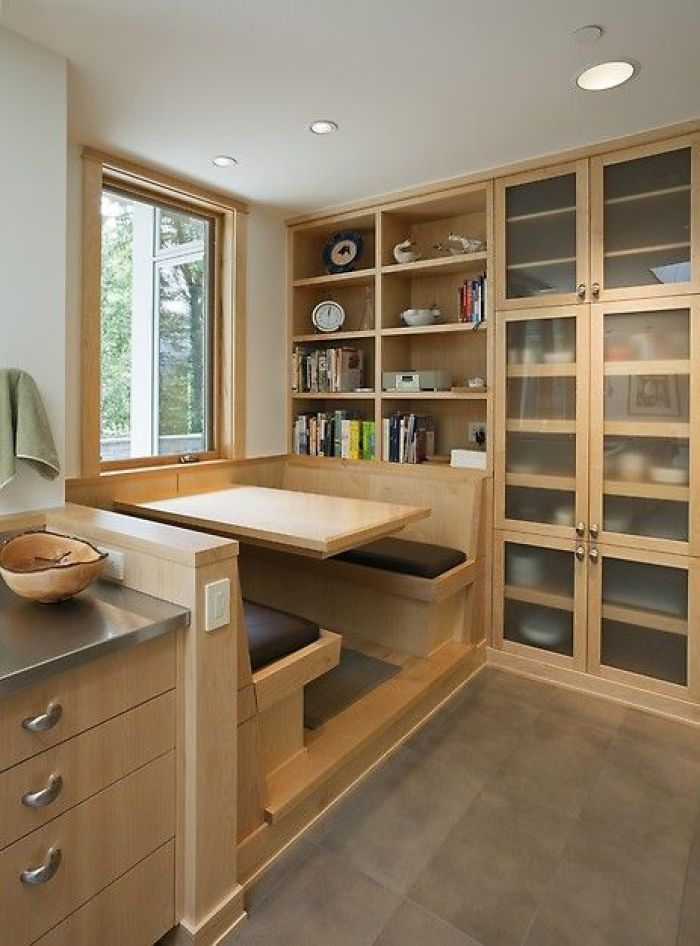 Breakfast Nook With Cabinets
