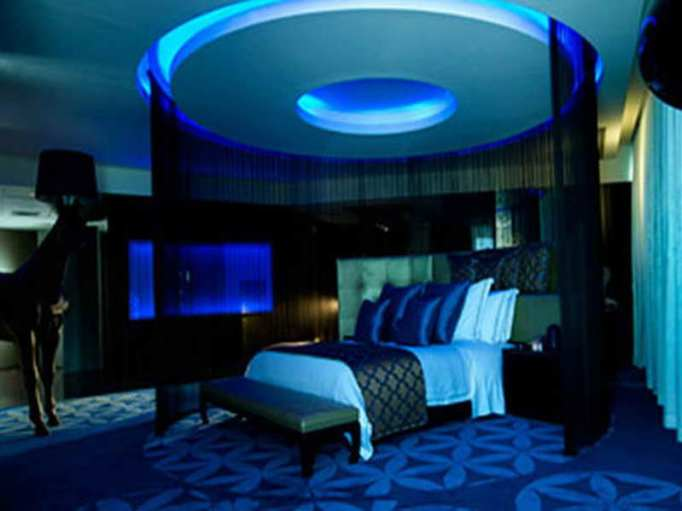 Dark Blue Girls Bedroom