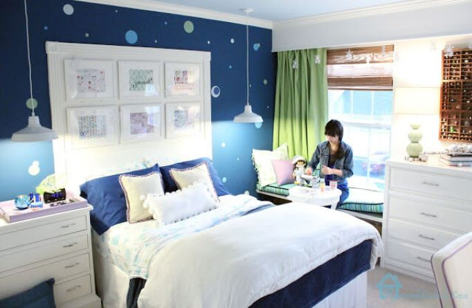 Navy Blue Bedroom for Girls
