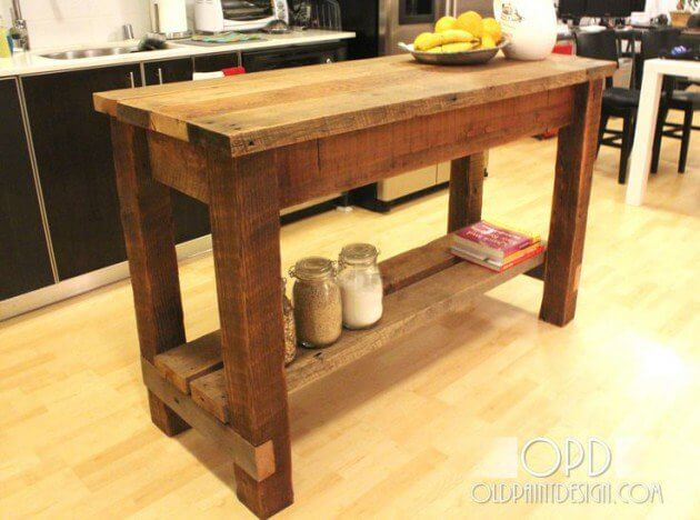 Rustic kitchen island ideas Diy Long Simple Rustic Kitchen Cabinet Reverb 15 Rustic Kitchen Island Ideas For The Classic Look Of Your Kitchen