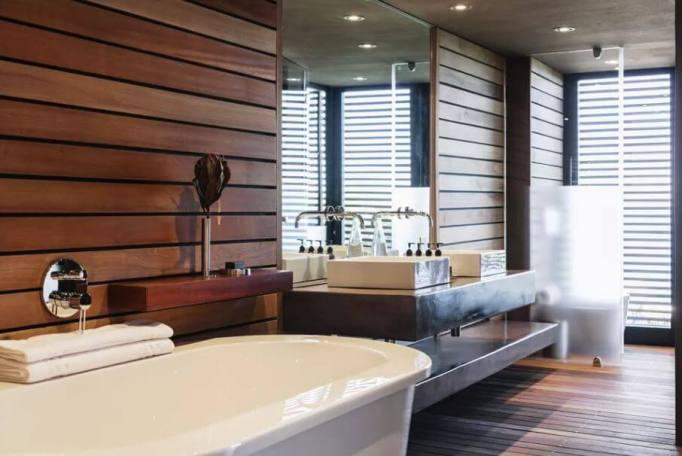 Bathroom with Luxurious Wood Accents
