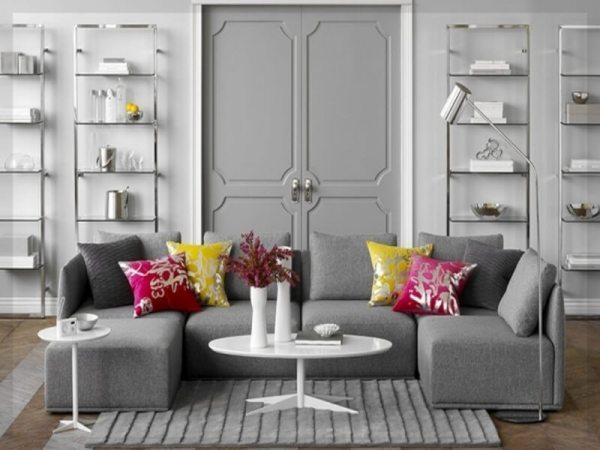 gray living room
