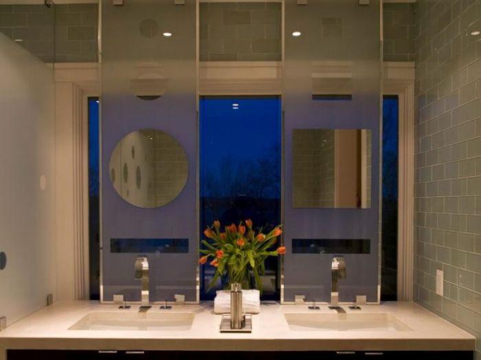mirror on mirror bathroom