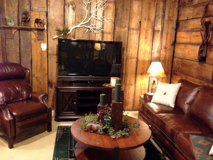 rustic living room set
