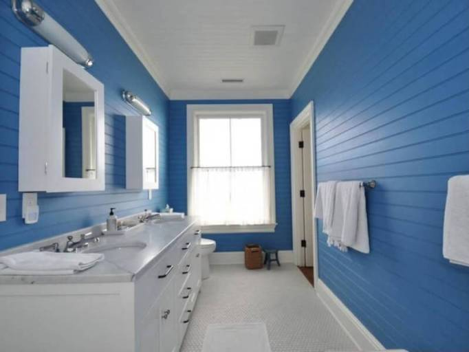 Light Blue and White Bathroom Design