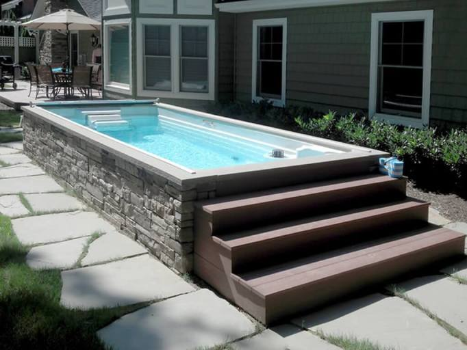 Long and Narrow Above Ground Pool