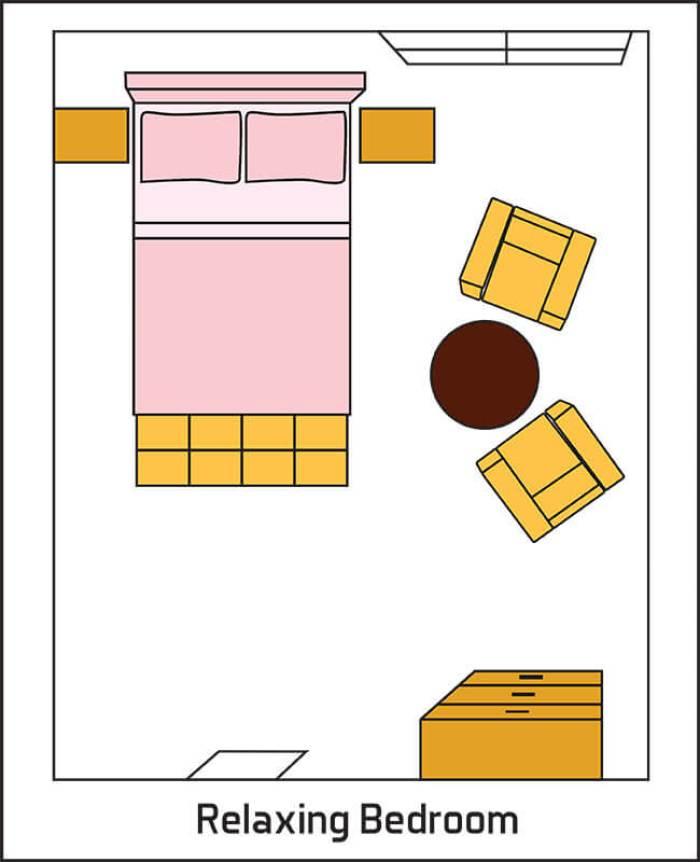 Relaxing Bedroom Layout Design
